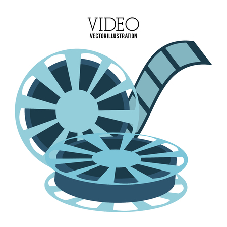 video icons: Video concept with  movie icons design, vector illustration 10 eps graphic., Vector design Illustration