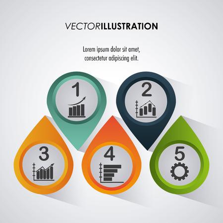 notion Infographic avec des options de conception, illustration vectorielle 10 eps graphique.