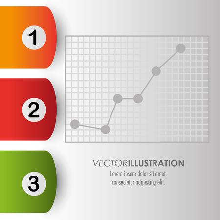 demographics: Infographic concept with options design, vector illustration 10 eps graphic.