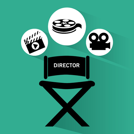 chair wooden: Video concept with  movie icons design, vector illustration 10 eps graphic.