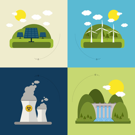 electricity background: Save energy concept with eco icons design, vector illustration 10 eps graphic. Illustration