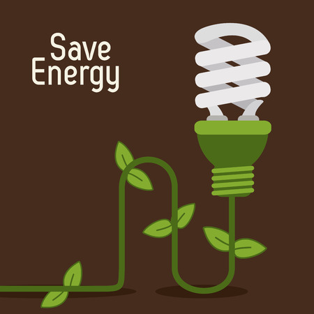 recycling plant: Save energy concept with eco icons design, vector illustration 10 eps graphic. Illustration