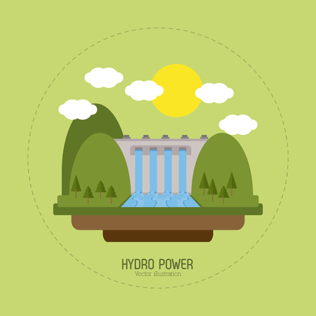 green energy: Save energy concept with eco icons design, vector illustration 10 eps graphic. Illustration