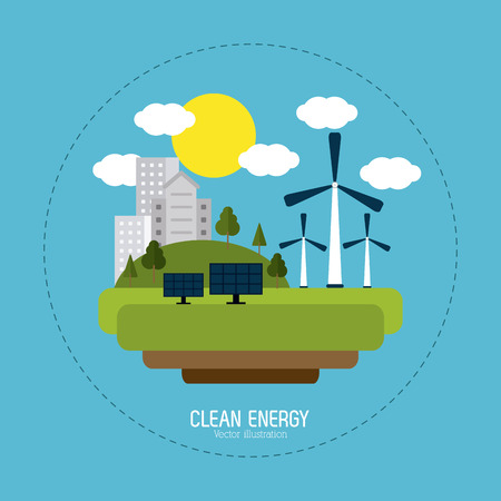 save icon: Save energy concept with eco icons design, vector illustration 10 eps graphic. Illustration