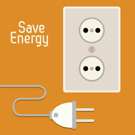 power icon: Save energy concept with eco icons design, vector illustration 10 eps graphic. Illustration