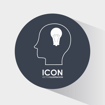 inspiration: Think different concept with brain design, vector illustration 10 eps graphic. Illustration