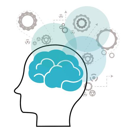 creative brain: Think different concept with brain design, vector illustration 10 eps graphic. Illustration