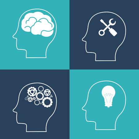 great idea: Think different concept with brain design, vector illustration 10 eps graphic. Illustration