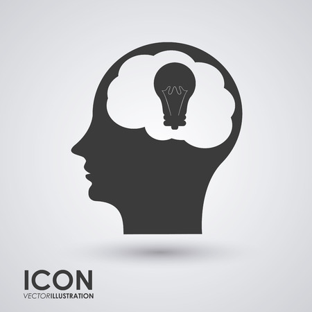 different concept: Think different concept with brain design, vector illustration 10 eps graphic. Illustration