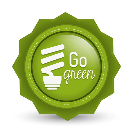 green bulb: Go green concept with eco icons design, vector illustration 10 eps graphic.