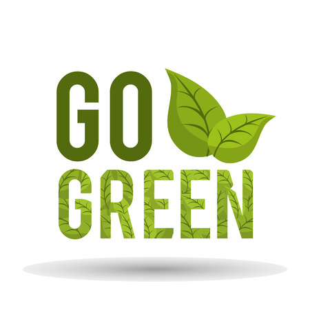 Go green concept with eco icons design, vector illustration 10 eps graphic.