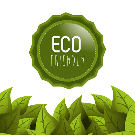 to go: Go green concept with eco icons design, vector illustration 10 eps graphic.