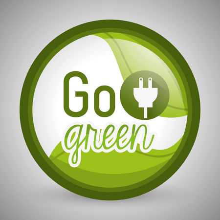 go green concept: Go green concept with eco icons design, vector illustration 10 eps graphic.