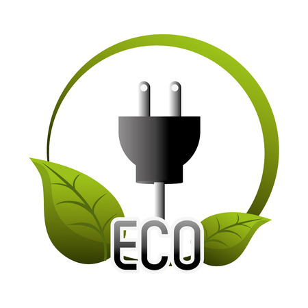 eco green: Go green concept with eco icons design, vector illustration 10 eps graphic.