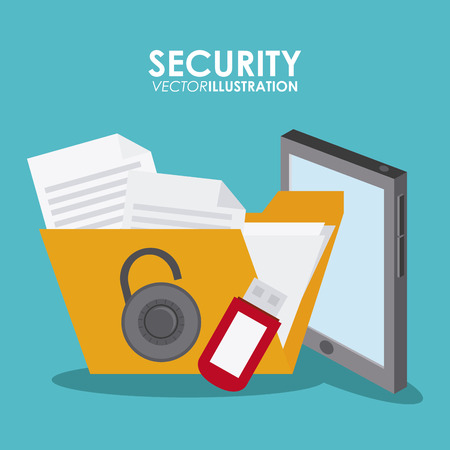 Security system concept with insurance icons design, vector illustration   graphic. Illustration