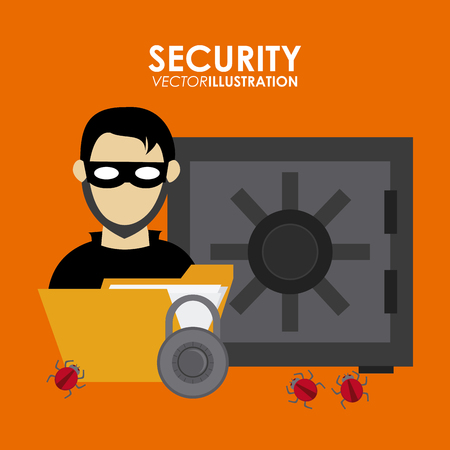 trajan: Security system concept with insurance icons design, vector illustration