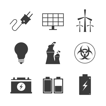eco power: save energy concept with eco icon design, vector illustration graphic.