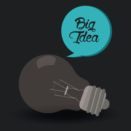big idea: Big idea concept with light bulb design, vector illustration graphic. Illustration