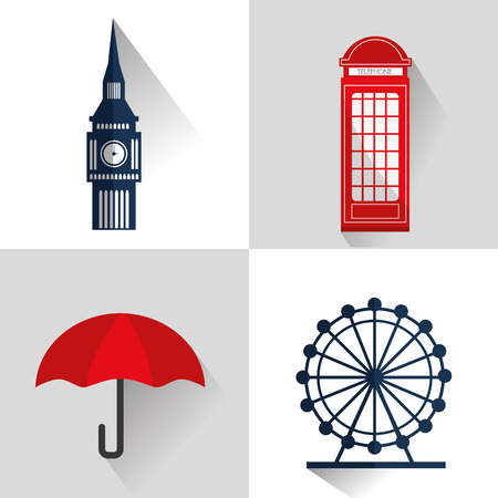 thames: London concept with landmarks icons design Illustration