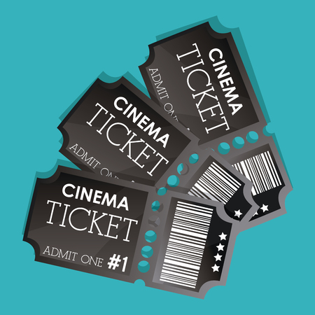 cinema film: Cinema concept with ticket icons design, vector illustration