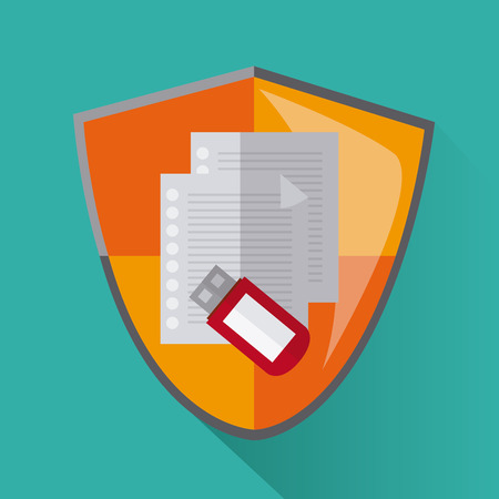 value system: Security sytem concept with protection icons design, vector illustration
