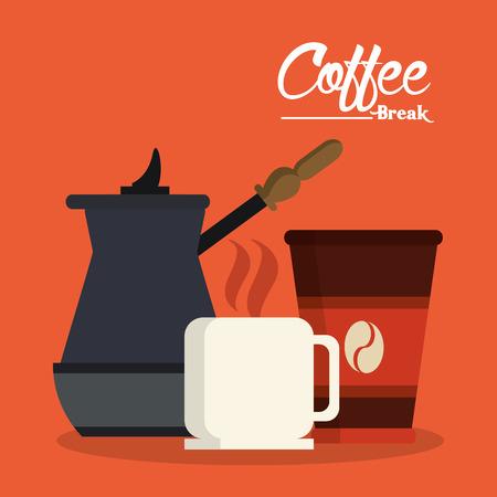 coffee mug: Coffee concept with coffee mug design, vector illustration  Illustration