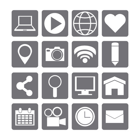 social media concept: Social Media concept with online icons design, vector illustration  Illustration