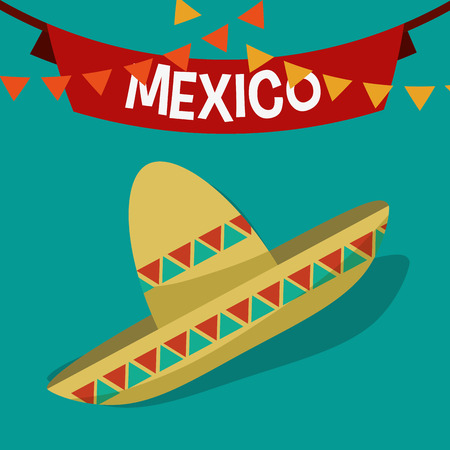 hispanics: Mexican  concept with culture icons design, vector illustration