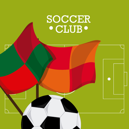 soccer club: Soccer club concept with ball design, vector illustration