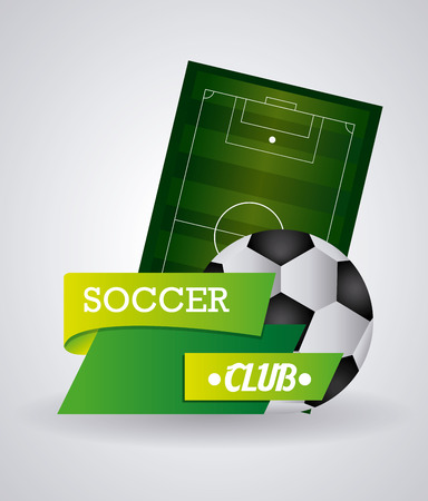 soccer club: Soccer club concept with ball design, vector illustration 10 eps graphic.