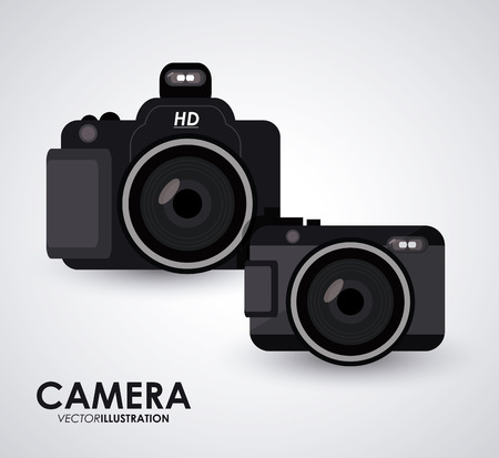 digicam: camera concept with gadget icon design, vector illustration  Illustration