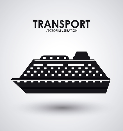 iconos de transporte: Travel concept with transport icons design, vector illustration