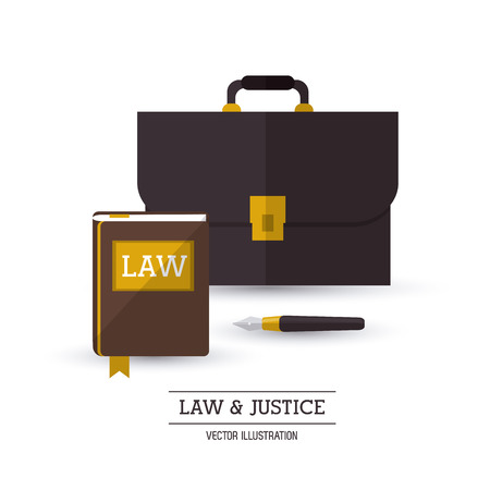 civil rights: Law concept with justice icons design, vector illustration  Illustration