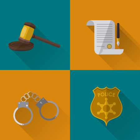 cuffs: Law concept with justice icons design, vector illustration  Illustration