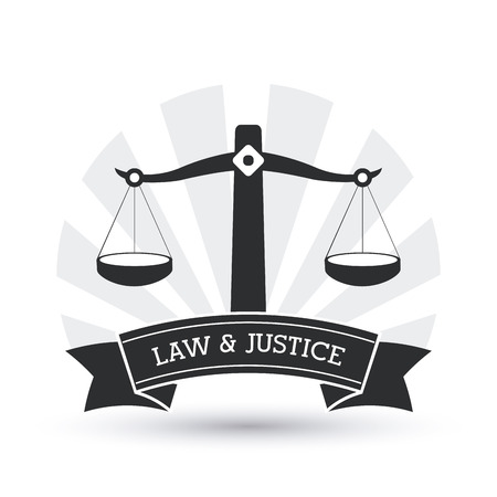 Law concept with justice icons design