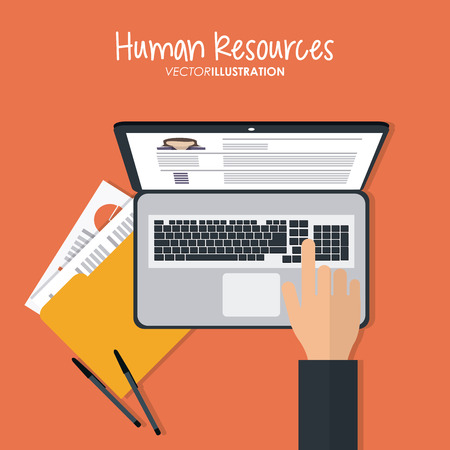 human resource: Human resources concept with office icons design, vector illustration 10 eps graphic.