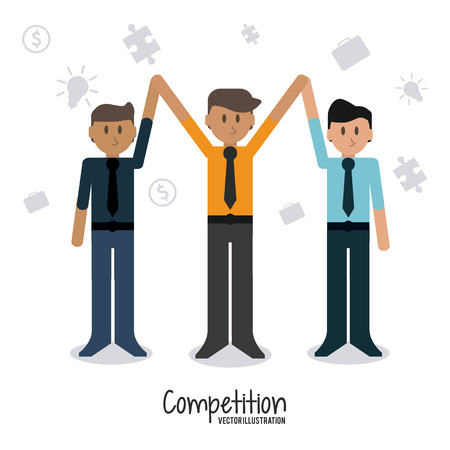 competitive: Competitive concept with businessman design, vector illustration 10 eps graphic.