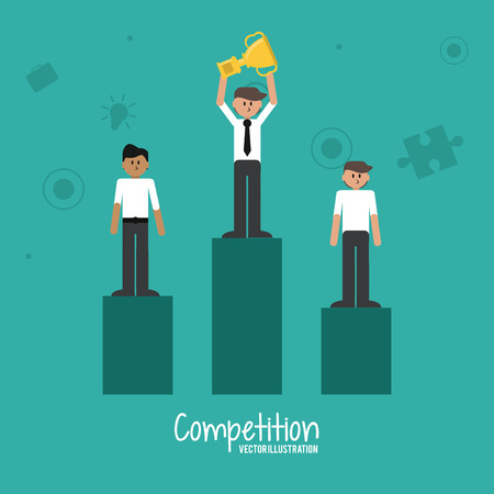 succes: Competitive concept with businessman design, vector illustration 10 eps graphic.