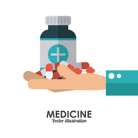 Medische concept met iconen ontwerp, vector illustratie 10 eps grafische.