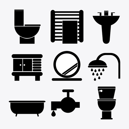 papaer: Bathroom concept about icons design, vector illustration 10 eps graphic.