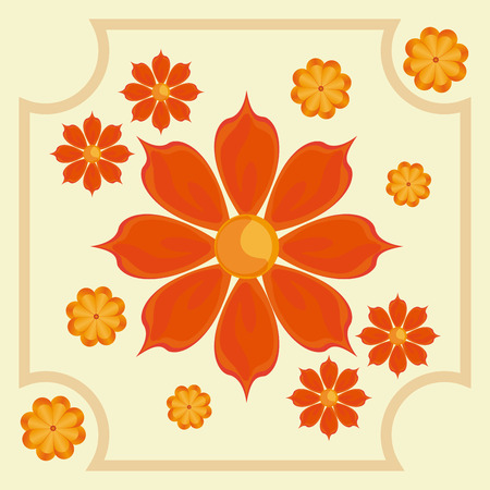 Garden concept about flowers design, vector illustration 10 eps graphic. Illustration