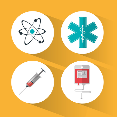 care about the health: Medical care concept about health care icons design, vector illustration 10 eps graphic.