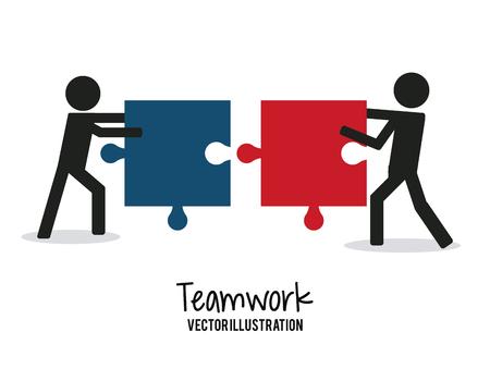 Teamwork concept met zakelijke iconen ontwerp, vector illustratie 10 eps grafische.