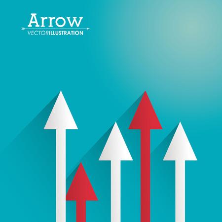 orientation marker: Direction concept with arrow design, vector illustration 10 eps graphic. Illustration