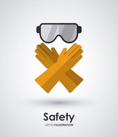 guantes: Concepto de seguridad sobre el dise�o de iconos del equipo, ilustraci�n vectorial eps 10 gr�fico.