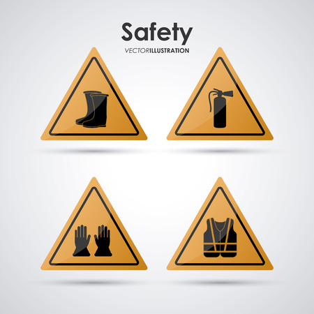 a concept: Safety concept about equipment icons design, vector illustration 10 eps graphic.