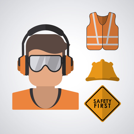 safety signs: Safety concept about equipment icons design, vector illustration 10 eps graphic.