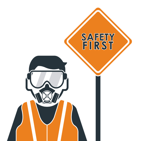 value system: Safety concept about equipment icons design, vector illustration 10 eps graphic.