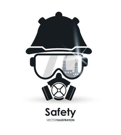 dangerous: Safety concept about equipment icons design, vector illustration 10 eps graphic.