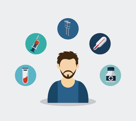 Medisch concept over helthy iconen ontwerp, vector illustratie 10 eps grafische. Vector Illustratie
